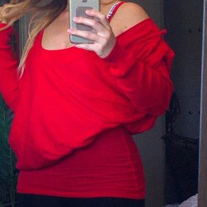 Victoria's Secret oversized red sweater
